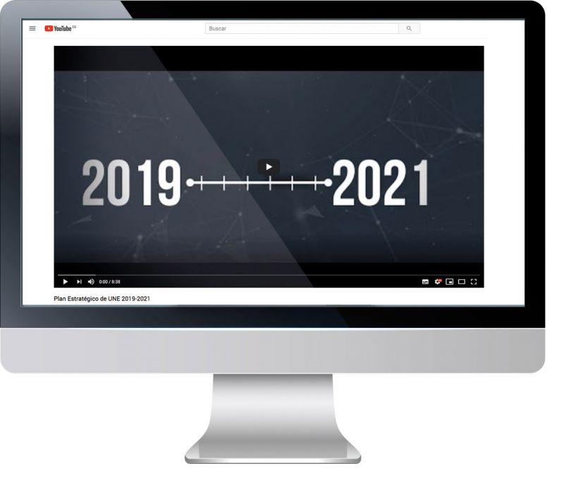 El vídeo del Plan Estratégico 2019-2021 está disponible en https://bit.ly/EstrategiaUNE1921
